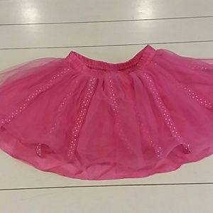 Gymboree pink tutu with polka dots size 18-24 mos
